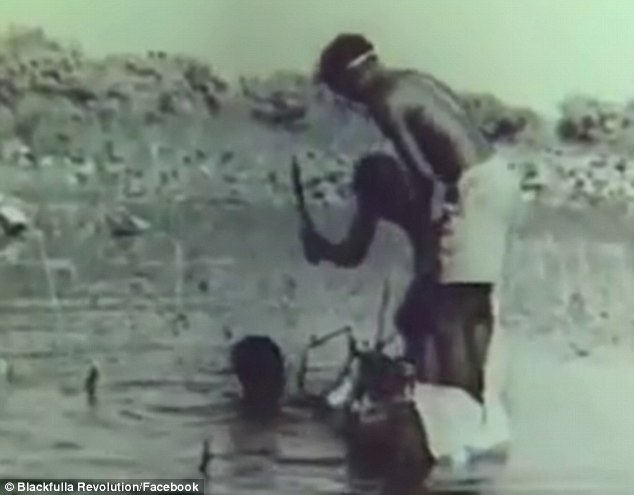 Unreal!  Vintage Footage Emerges of Aborigines Hunting Crocodiles in 1949