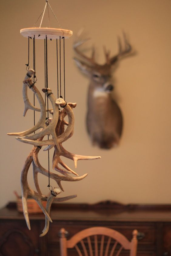 10 unique decorating ideas for your shed antlers the venatic shed antler chimes solutioingenieria Images