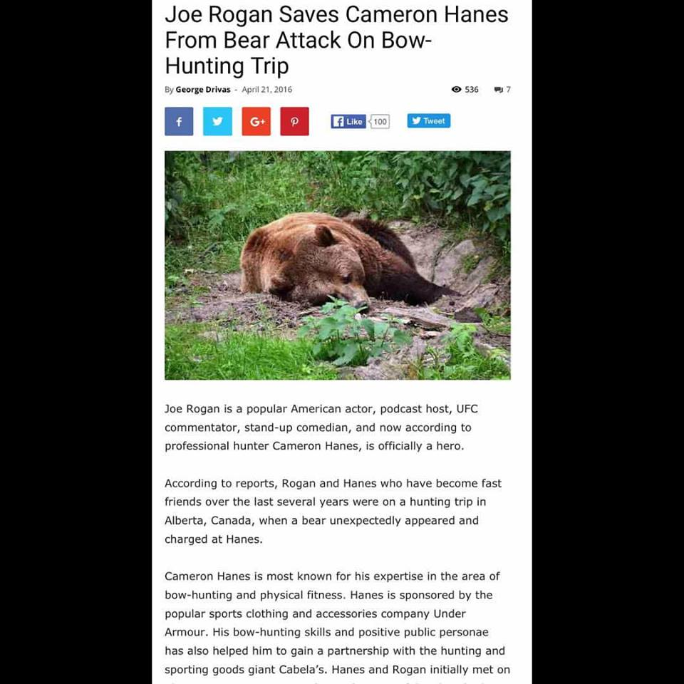 Cameron Hanes Disproves Bear Attack Hoax