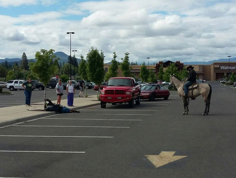 The Vigilante Cowboy Who Lassoed a Bike Thief in a Wal-Mart Parking Lot