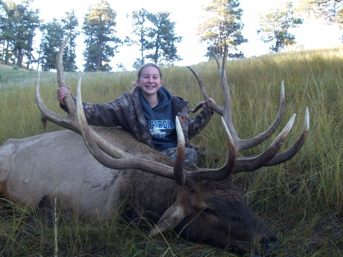 Eighth-Grader Kills Official State Record Bull Elk in Nebraska