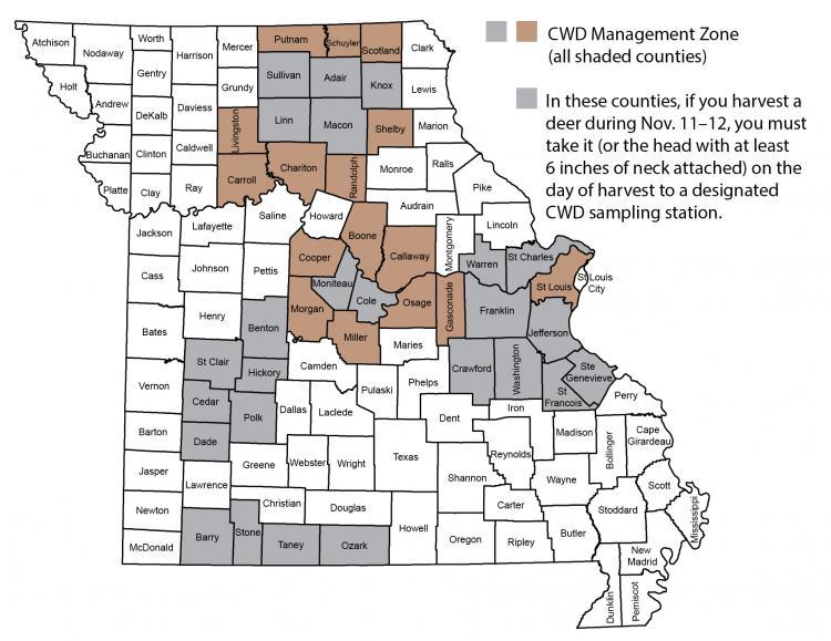 CWD Zone Map