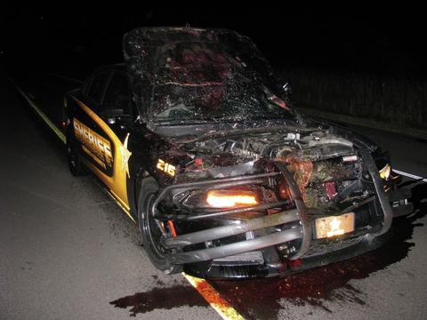 Isanti-County-Sheriff's-smashed-vehicle